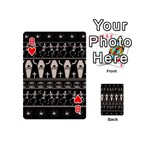 Halloween pattern Playing Cards 54 (Mini)  Front - Heart8