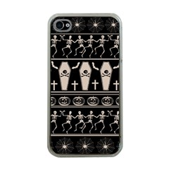 Halloween Pattern Apple Iphone 4 Case (clear)