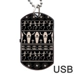 Halloween pattern Dog Tag USB Flash (Two Sides) Back