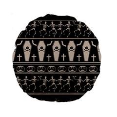 Halloween Pattern Standard 15  Premium Round Cushions