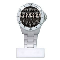 Halloween Pattern Plastic Nurses Watch