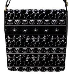 Halloween Pattern Flap Messenger Bag (s)
