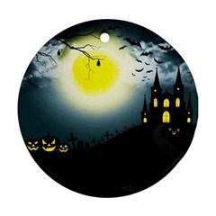 Halloween Landscape Ornament (round)