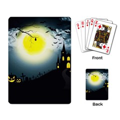 Halloween Landscape Playing Card