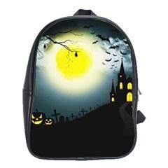 Halloween Landscape School Bag (large)