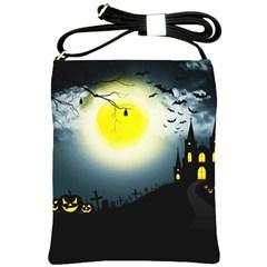 Halloween Landscape Shoulder Sling Bags