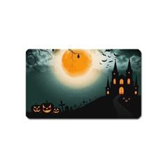 Halloween Landscape Magnet (name Card)