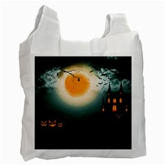 Halloween Landscape Recycle Bag (two Side)