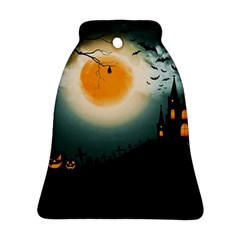 Halloween Landscape Bell Ornament (two Sides)