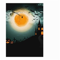 Halloween Landscape Small Garden Flag (two Sides)