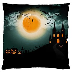Halloween Landscape Standard Flano Cushion Case (two Sides)