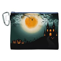Halloween Landscape Canvas Cosmetic Bag (xxl)