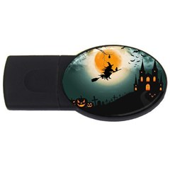 Halloween Landscape Usb Flash Drive Oval (2 Gb)