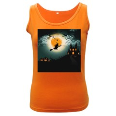 Halloween Landscape Women s Dark Tank Top