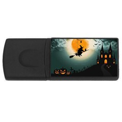 Halloween Landscape Rectangular Usb Flash Drive