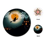 Halloween landscape Playing Cards (Round)  Front