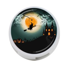 Halloween Landscape 4 Port Usb Hub (one Side)