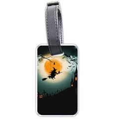 Halloween Landscape Luggage Tags (one Side)