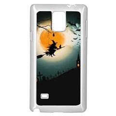 Halloween Landscape Samsung Galaxy Note 4 Case (white)