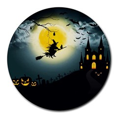 Halloween Landscape Round Mousepads