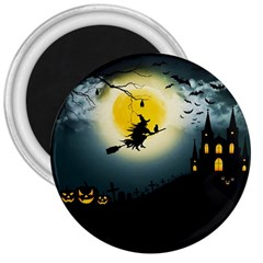 Halloween Landscape 3  Magnets