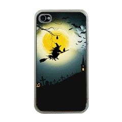 Halloween Landscape Apple Iphone 4 Case (clear)