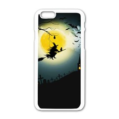 Halloween Landscape Apple Iphone 6/6s White Enamel Case