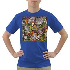 Halloween Pattern Dark T Shirt
