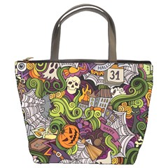 Halloween Pattern Bucket Bags