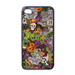Halloween Pattern Apple Iphone 4 Case (black)
