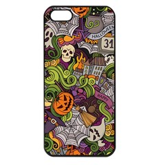 Halloween Pattern Apple Iphone 5 Seamless Case (black)