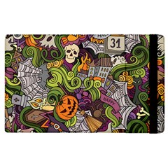 Halloween Pattern Apple Ipad 3/4 Flip Case