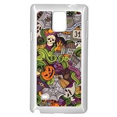 Halloween Pattern Samsung Galaxy Note 4 Case (white)