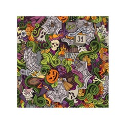 Halloween Pattern Small Satin Scarf (square)