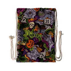 Halloween Pattern Drawstring Bag (small)