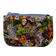 Halloween Pattern Large Coin Purse