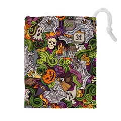 Halloween Pattern Drawstring Pouches (extra Large)
