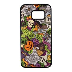 Halloween Pattern Samsung Galaxy S7 Black Seamless Case
