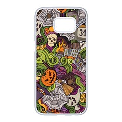 Halloween Pattern Samsung Galaxy S7 Edge White Seamless Case