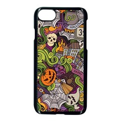 Halloween Pattern Apple Iphone 7 Seamless Case (black)