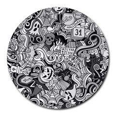 Halloween Pattern Round Mousepads