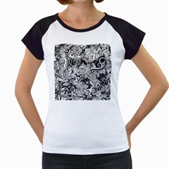 Halloween Pattern Women s Cap Sleeve T