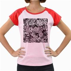 Halloween Pattern Women s Cap Sleeve T Shirt