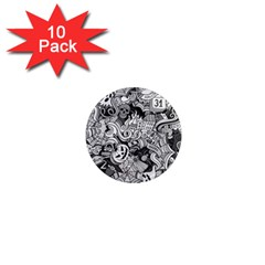 Halloween Pattern 1  Mini Magnet (10 Pack)