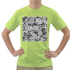 Halloween Pattern Green T Shirt