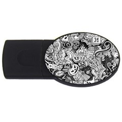 Halloween Pattern Usb Flash Drive Oval (2 Gb)