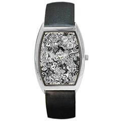 Halloween Pattern Barrel Style Metal Watch