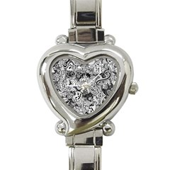 Halloween Pattern Heart Italian Charm Watch