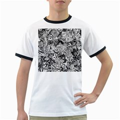 Halloween Pattern Ringer T Shirts