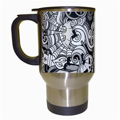 Halloween Pattern Travel Mugs (white)